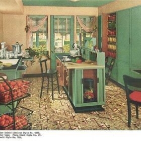 1940s-green-and-red-kitchen