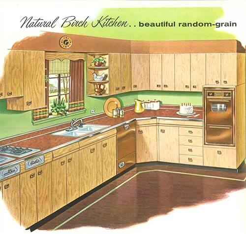 retro birch kitchen 1950s