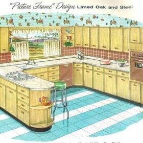 retro kitchen 1950s