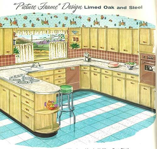 retro picture frame kitchen 1950s