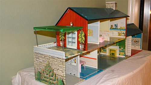 dollhouse with bomb shelter