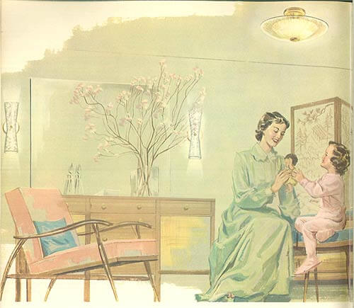 Mid-century-girls-bedroom
