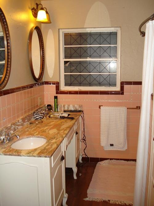 mike and lindsey's pink master bathroom remodel  artfully