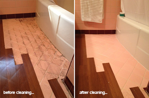 removing laminate floor from ceramic tiles