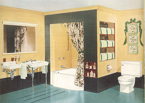 24 Pages Of Vintage Bathroom Design Ideas From Crane