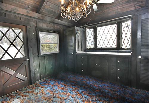 grey-wood-panelled-walls-shag-carpet-retro
