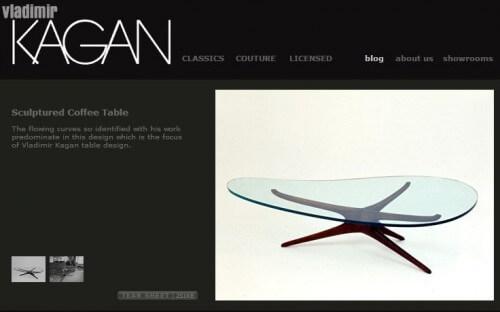 vladimir kagan sculptured coffee table