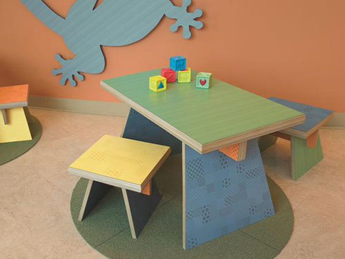 Kids Table And Benches Made With New Formica