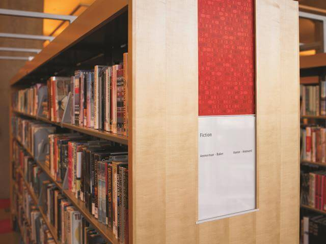 library shelf with formica