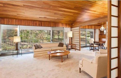mid-century-living-room-wood-ceiling