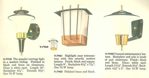 Vintage virden lighting 52 page catalog from 1959 retro renovation mid century wall sconces outdoor audiocablefo