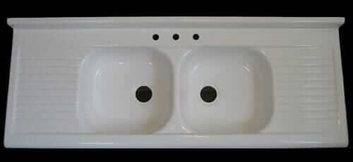 Beautiful reprodution fiberglass kitchen drainboard sink