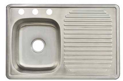 Steel Drainboard Kitchen Sinks