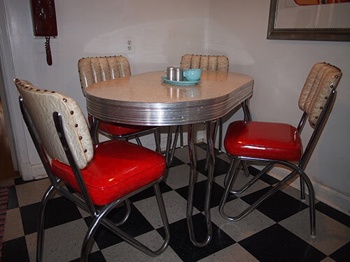 thick-chrome-vintage-dinette-with-red-seats-Uncle-Atom