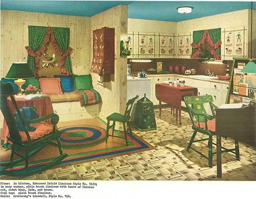 Good Vintage 1940s Kitchen And Living Area