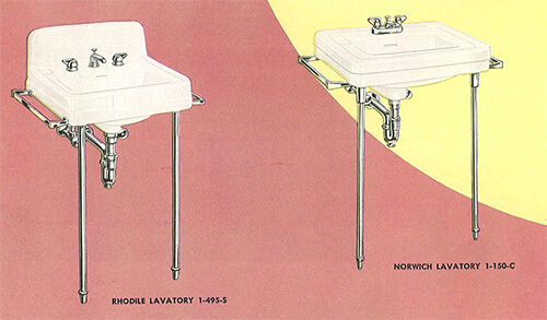 24 Pages Of Vintage Bathroom Design Ideas From Crane 1949 Catalog Retro Renovation