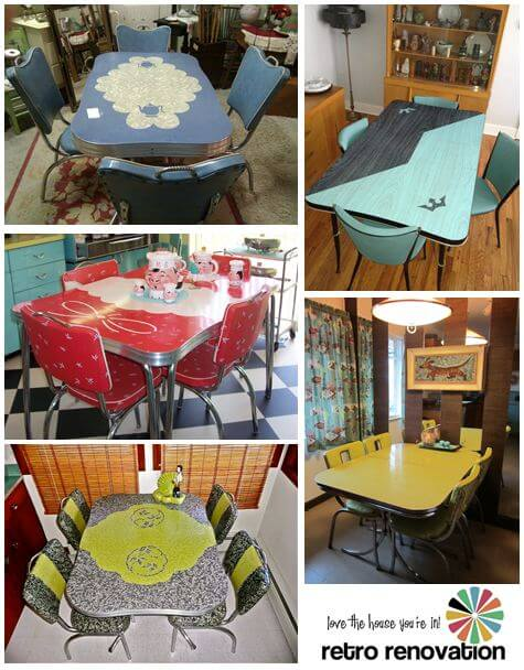 Chrome Dinette Chairs dinette sets - retro renovation