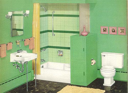 Vintage Bathrooms: 24 Pages Of Vintage Bathroom Design Ideas From Crane