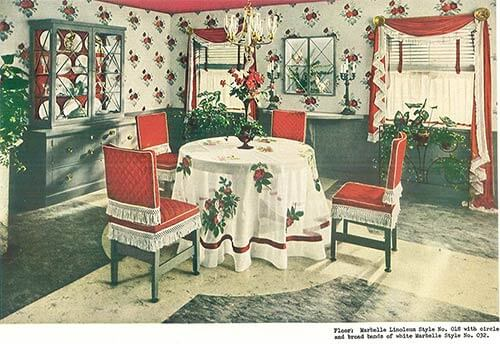 1940s decor dining room