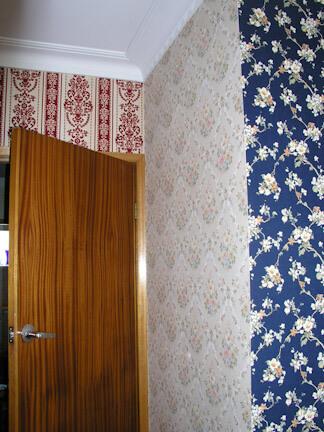 vintage wallpaper patchwork