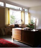 window treatments mid century modern house