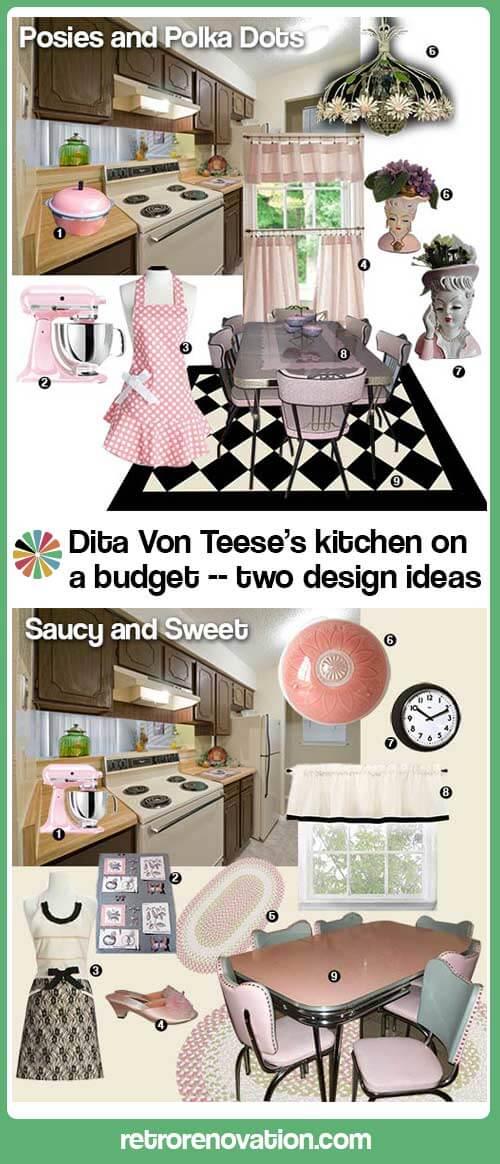 Dita-Von-Teese-inspired-pink-kitchen