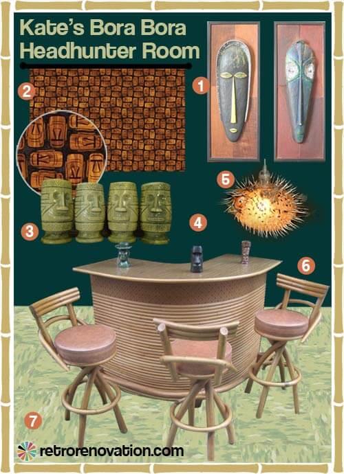 A Tiki Bar For Your Basement Three Mood Boards Retro