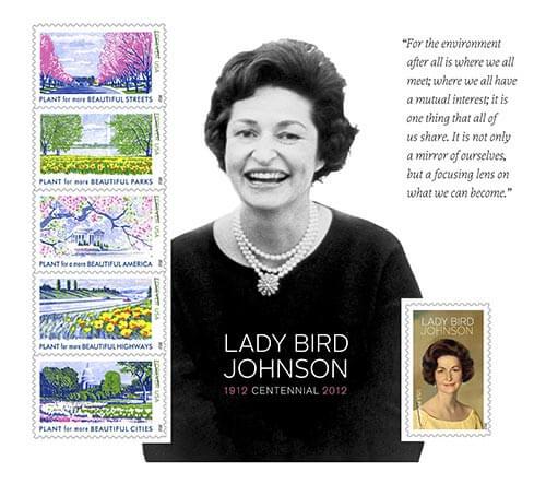 Lady-Bird-Johnson-Centennial-stamps