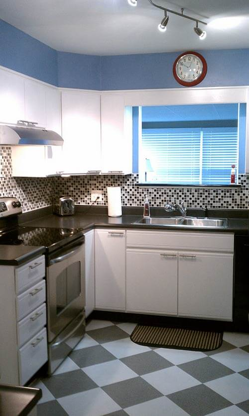 retro modern kitchen susan transforms 1980s kitchen for 600 retro renovation 6079