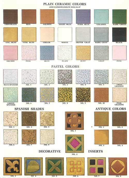 Colors Of Vintage Ceramic Tile 1930