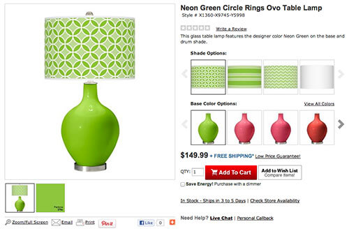 Green Lamp Builder Lamps Plus Color