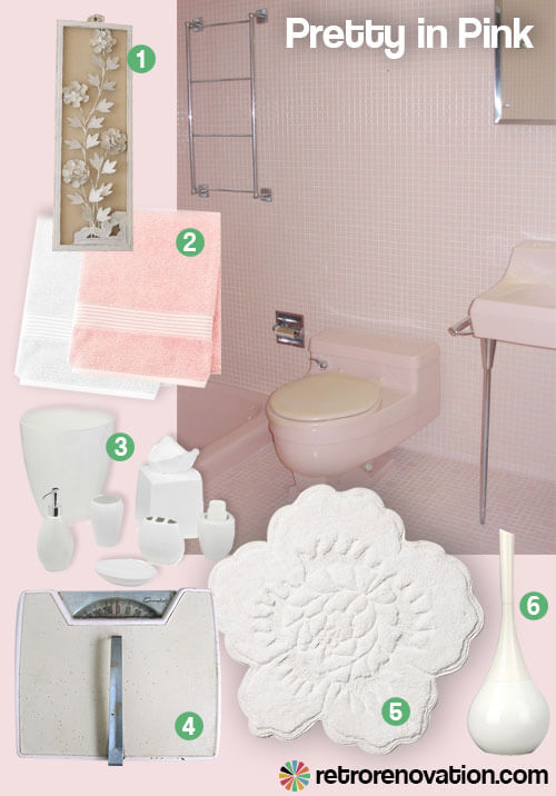 pink retro tiled bathroom
