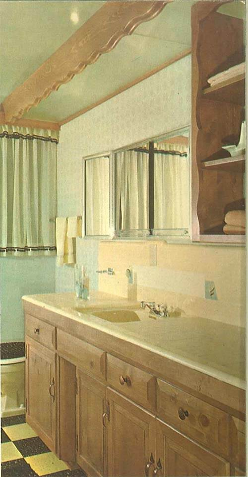 Knotty Pine And Tile Vintage Bathroom