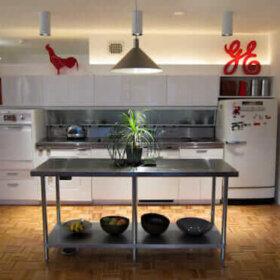 kitchen in mies van der rohe apartment