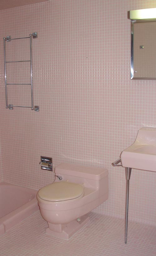 How To Decorate A Bathroom That Has Pink Tile
