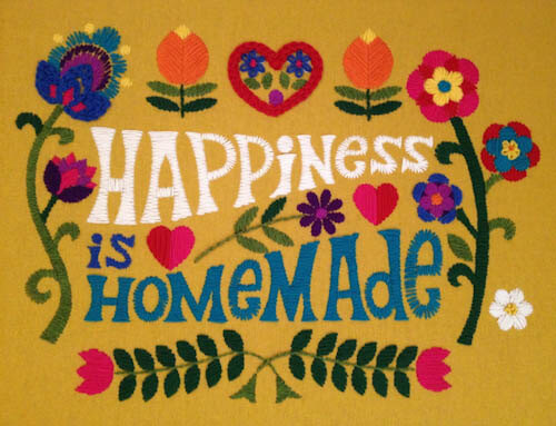 happiness is homemade crewel kit