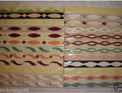 Breaking News HOT Vintage NOS Ceramic Tile Border Sizzle Strips For - Ceramic tiles mosaics for sale