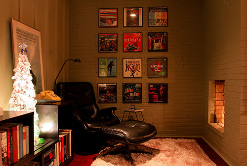 framed record albums as art