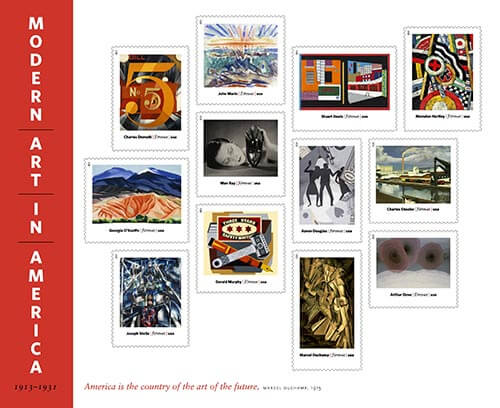 Modern-Art-in-America-stamps-USPS