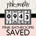 Robert's pink and black bathroom makeover