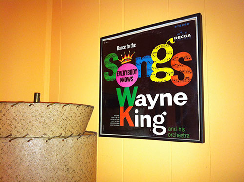 hang vintage records on the wall as art