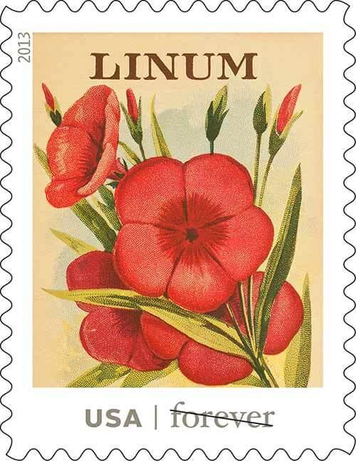 USPS-vintage-seed-packet-stamps-Linum