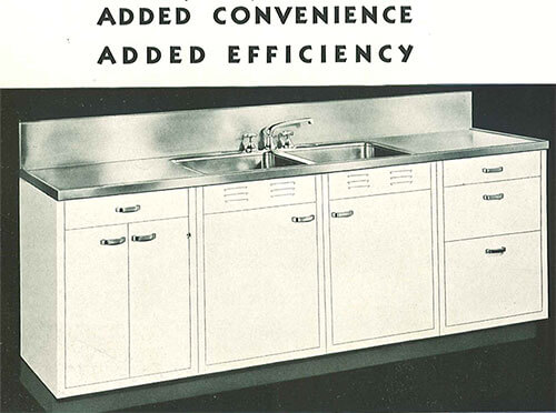 Vintage Kitchen Sink Cabinet whitehead steel kitchen cabinets - 20-page catalog from 1937