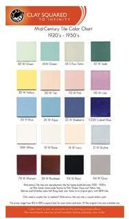 b & w tile colors