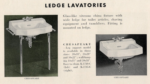 5 Ledge Style Vintage Bathroom Sinks