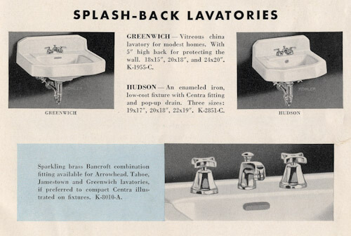 vintage bathroom sinks splash back