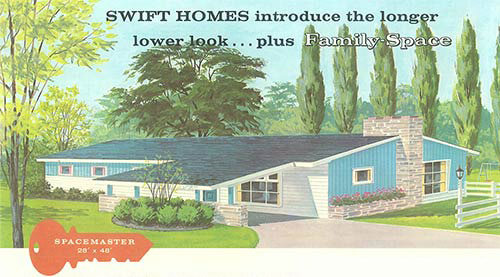Terrific curb appeal ideas from Swift Homes 1957 house plans catalog ...