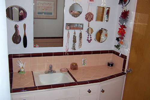 Marsha saves her peach tile bathroom with help from BW Tile