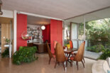 Hanging fish bowl — in spectacular mid century modern by Case Study house architects