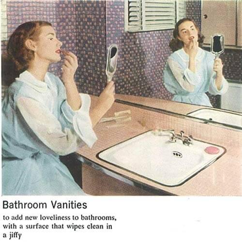 vintage-pink-laminate-vanity-in-bathroom